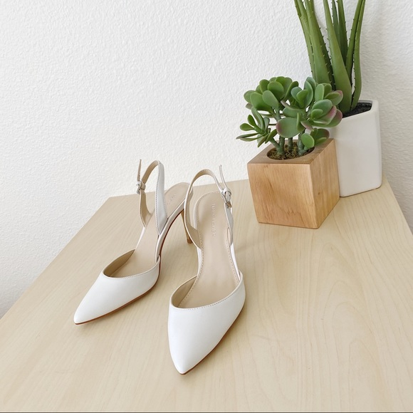 Marc Fisher Shoes - MARC FISHER davon white heels